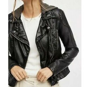Free People Moto leather jacket